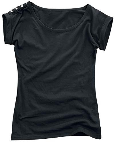 M Emp e Sleeve By Camiseta R Negro d Button q8tvw1x