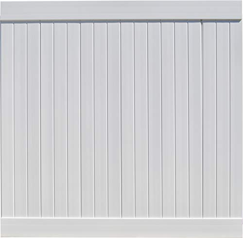 EZ Fence Vinyl Privacy Fencing (6' x 6') White | Premium PVC Fence | DIY Construction ()