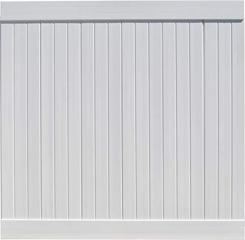 EZ Fence Vinyl Privacy Fencing (6' x 6') White   Premium PVC Fence   DIY Construction  