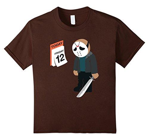 Kids Friday the 12th Shirt Funny Jason Shirt 12 Brown (Jason Voorhees Clothes)