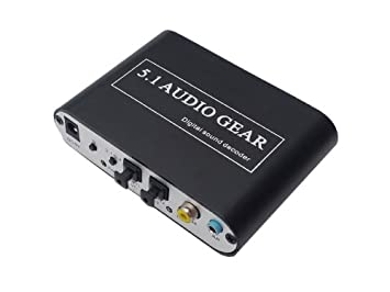EiioX 5.1 AC3 DTS HD Audio Gear Digital Sound Decoder