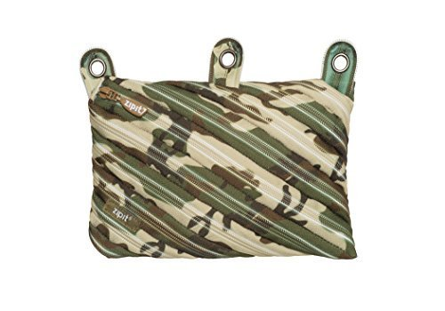 ZIPIT Camo 3-Ring Pencil Case, Green Camouflage by Zipit