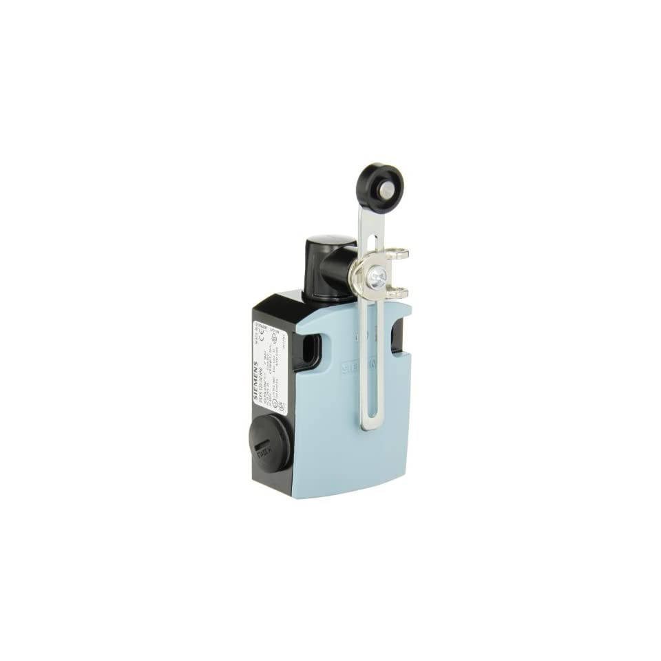 Siemens 3SE5 122 0CH50 International Limit Switch Complete Unit, Twist Lever, Adjustable Length, 56mm Metal Enclosure, Metal Lever, 19mm Plastic Roller, Snap Action Contacts, 1 NO + 1 NC Contacts