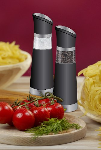 Modernhome Gravity-Activated Electric Salt and Pepper Mill Set