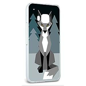 Snap On Protective Slim Hard Case for HTC One M9 Geometric Animal Designs - Winter Fox Geometric