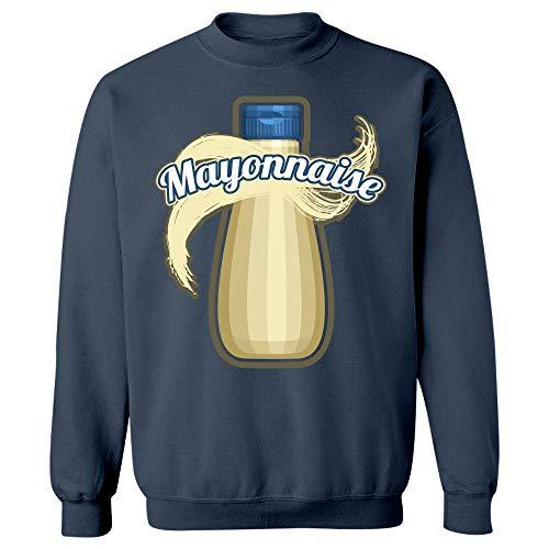 Mayonnaise Condiment Easy Trio Halloween Costume Tshirt - Sweatshirt Navy