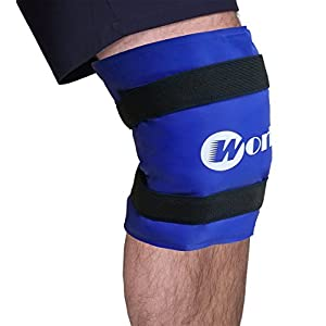 "Knee Ice Pack Gel Large Wrap Provides Fast Pain Relief Reusable Flexible Hot Cold Therapy for Injuries Shoulder, Thigh, etc (19"" x 9.8"")"