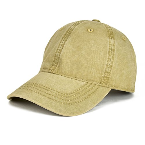 - VOBOOM Washed Cotton Military Caps Cadet Army Caps Unique Design Vintage Flat Top Cap (Style2-Khaki)