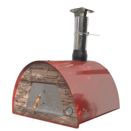 Authentic Pizza Ovens Maximus Red Handmade Wood Fire - Oven Small Wood