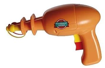 Senf- y Dispensador de salsa de tomate Mostaza Ketchup Dispensador de mostaza Donante de Space Pistola 22 cm: Amazon.es: Jardín