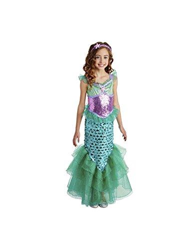 Little Girls' Mermaid Costume Dress Turquoise Small / 4-6