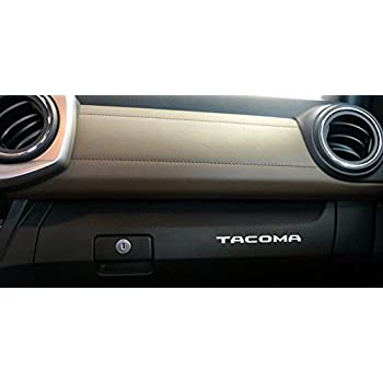 Glove Box Letters Chrome Adhesive Sticker for 2016-2018 Toyota Tacoma