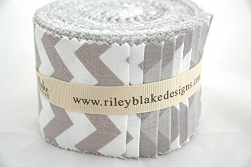 Riley Blake BASICS VARIETY GRAY Rolie Polie 24 2.5 inch Jelly Roll Strips Quilt Fabric RP-40-24 by Riley Blake Designs