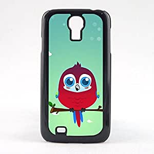 Case Fun Case Fun Scarlett Macaw Parrot by DevilleART Snap-on Hard Back Case Cover for Samsun Galaxy S4 Mini (I9190)