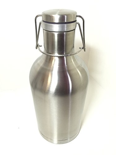 Amendment XXI Stainless Steel Double Walled, Vacuum Insulated and Wide Mouth Beer Growler, 64 oz.