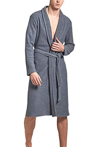 Leggero Vosujotis Cotone Notte Veste Da Camicie Gli Della Lana Uomini Kimono Grey2 nfrxwfXqA