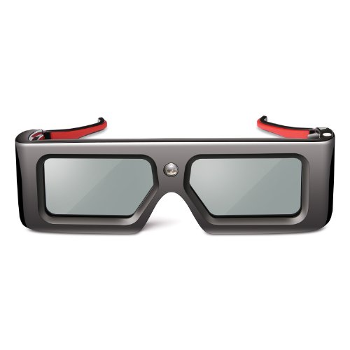 ViewSonic PGD-150 Active Stereographic 3D Shutter Glasses for ViewSonic DLP Link 120 Hz/3D Ready Projectors, Black