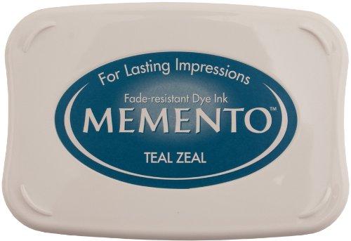 Tsukineko Memento Fade Resistant Dye Inkpad, Full, Teal Zeal