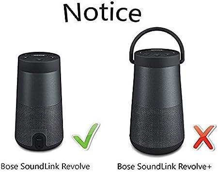 Forro Interior Suave Estuche Negro Funda Carcasa Dura Compatible con Bose Soundlink Revolve Cajas de Sonido Bluetooth vhbw Bolsa