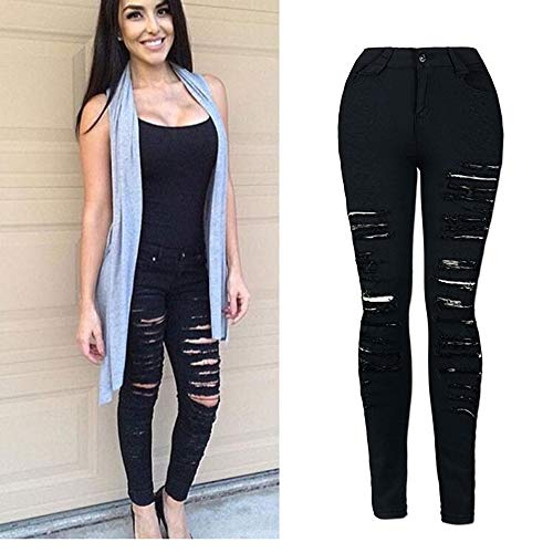 Taille Noir Taille Femme Pantalon Grande Pantalon Troue Pantalon Jeans Stretch Jeans Skinny Elargisseur Femme Haute Femme Pantalon Pantalons Slim Jeans Denim Taille Beautyjourney EvTBwq