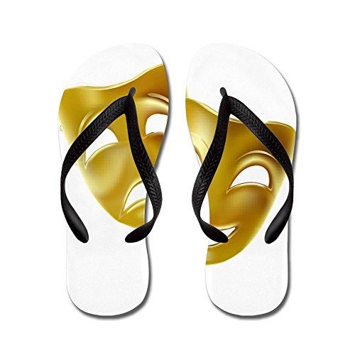 Cafepress Maskers Van Komedie En Tragedie - Flip-flops, Grappige Leren Sandalen, Strand Sandalen Zwart