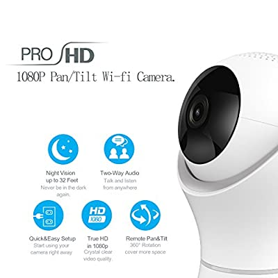 Gogloo Home Camera - 1080P HD Dome Security Camera, 360° Rotatable, Two-Way Audio, Night Vision, Motion Detection - for Home, Baby, Elder, Pet by Gogloo