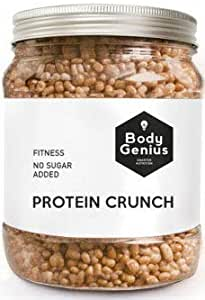 Body Genius PROTEIN CRUNCH (Turrón). Bolitas de Proteina Recubiertas de Chocolate Sin Azucar. Made in Spain. 500 gr