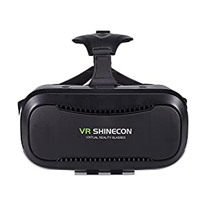 VR SHINECON VR Headset, VR Goggles 3D VR Glasses Virtual Reality Headset VR Box for 3D Video Movies Games for Apple iPhone, Samsung Galaxy Note HTC Google Nexus LG More Smartphones from VR SHINECON