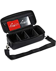 Quiver Time Portable Game Card Carrying Cases - Stylish PU Leather Exterior with Double Zipper, Dividers, Wrist Strap & Shoulder Strap   Deck Box Compatible