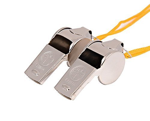 1PCS Stainless Steel Metal Whistle Party Referee Sports School Football Rugby Dog Training With Yellow Strap and a Box Best Xmas Gift