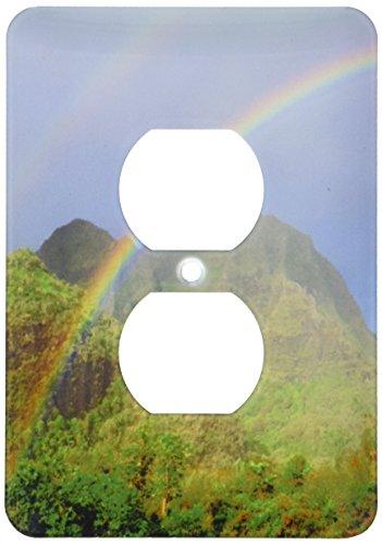 3dRose lsp_210319_6 Use, Hawaii, Kauai Hawaiian Rainbow 2 Plug Outlet Cover by 3dRose