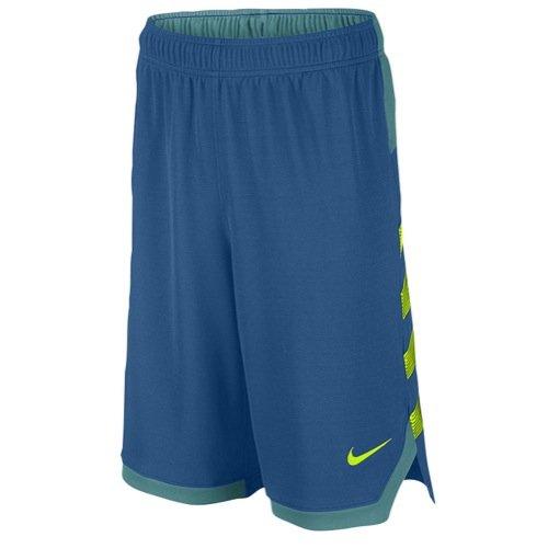 Nike Big Kids' (Boys') Dri-FIT Training Shorts (Navy/Neon, Small) by Nike