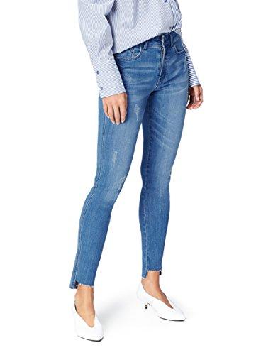 Bleu Blue Normale Femme FIND Mid Jean Skinny Taille znOX80