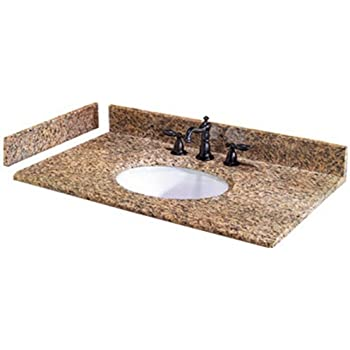 Amazon Com Pegasus Pe25649 25 Inch Montesol Granite Vanity Top With White Bowl And 8 Inch