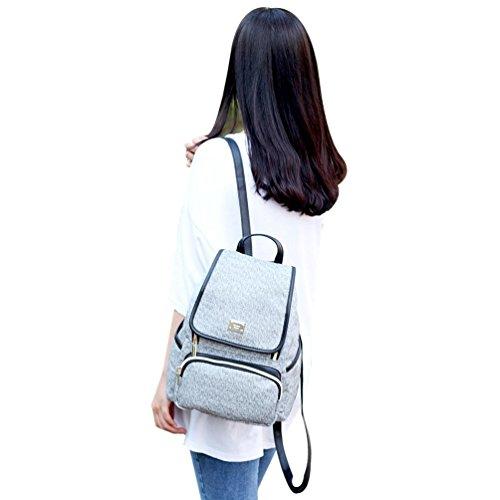 a51fae2e0e2 Amazon.com   Copi Women s Modern Deluxe Design Fashion Small Backpacks  Black   Casual Daypacks