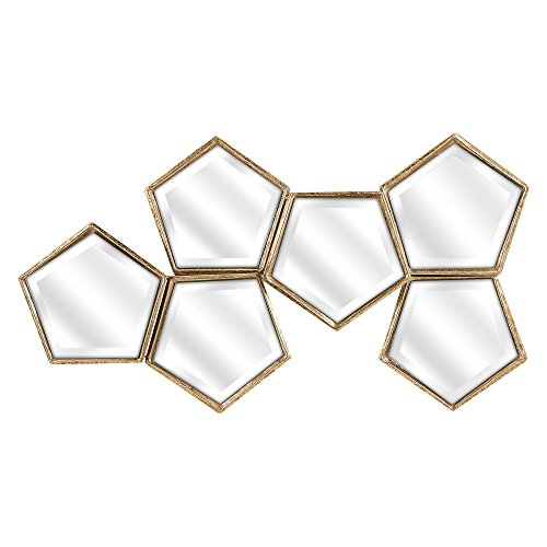 784185834567 - IMAX 83456 Arlene Mirror Wall Decor, Gold carousel main 0