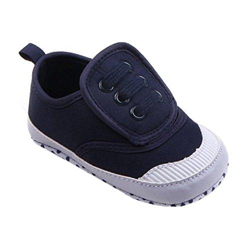 BZLine® Säugling Baby weiche Sohle Krippe Schuhe Sneaker Canvas Schuhe Dunkelblau