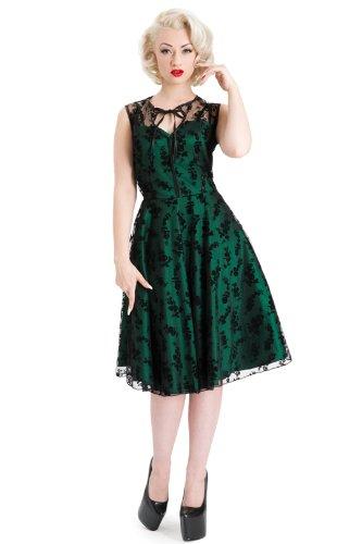 Neue Smaragd Grün Voodoo Vixen 50er Jahre Rockabilly Vintage Stil ...