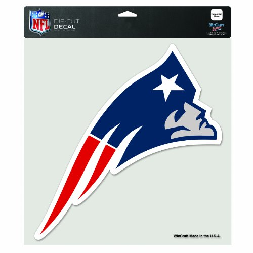 NFL New England Patriots 8-by-8 Inch Diecut Colored Decal