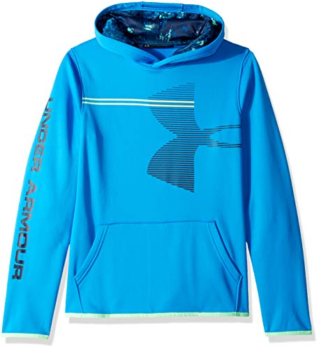 Under Armour Boys' Armour Fleece Hoodie, Blue Circuit (437)/Academy, Youth ()
