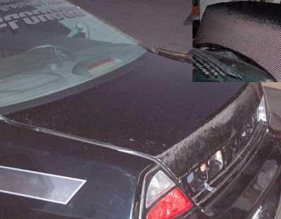 Accord Vis Oem Carbon Fiber (VIS 98-02 Honda Accord 2D Carbon Fiber Trunk Lid OEM 00)
