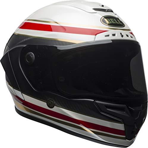 Bell Race Star DLX Full-Face Motorcycle Helmet (RSD Formula Matte/Gloss White/Red, ()