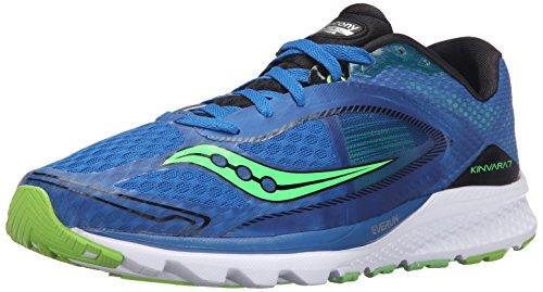 Saucony Men's Kinvara 7 Running Shoe, Blue/Black, 8.5 M US