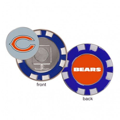 Chicago Bears Poker Chip Golf Ball Marker by WinCraft
