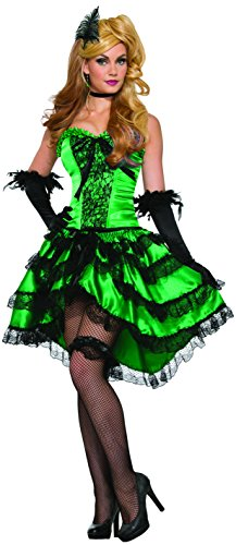 Forum Novelties Women's Emerald Saloon Girl Costume, Multi, STD -