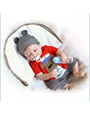 Baby Reborn Dolls, 22inch Reborn Baby Doll, Look Real Baby Born, for Girls and Children