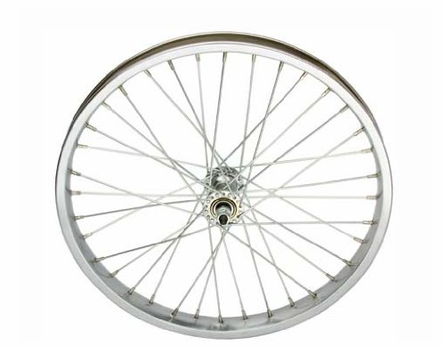 20'' x 2.125'' Steel Front Wheel 12G Chrome. Bicycle wheel, bike wheel, Lowrider bike wheel, lowrider bicycle wheel, bmx, free style, chopper, cuiser, bike part, bicycle part by Lowrider