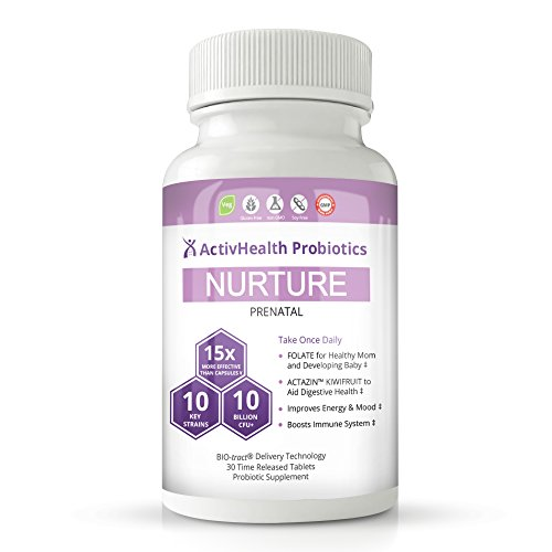 Prenatal & Postnatal Probiotics with Folic Acid for Pregnant, Breastfeeding and Nursing Moms | 150 Billion CFU Efficacy v. Capsules | Kiwifruit! Flavored