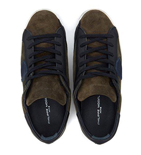 Sneaker Philippe Model Classic en gamuza verde oscuro Verde