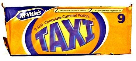 McVities Taxi Milk Choc/ Caramel Wafers 9pk - Case of 12